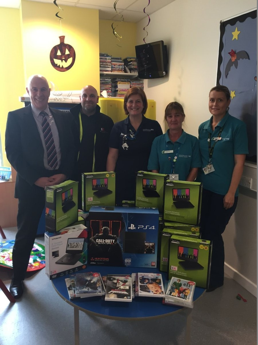 GE Robinson Support Manchester Childrens Hospital Cancer Ward